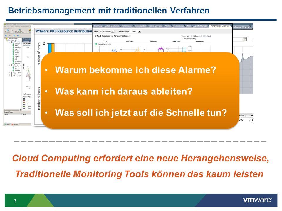 3 Betriebsmanagement mit traditionellen Verfahren Warum bekomme ich diese Alarme.