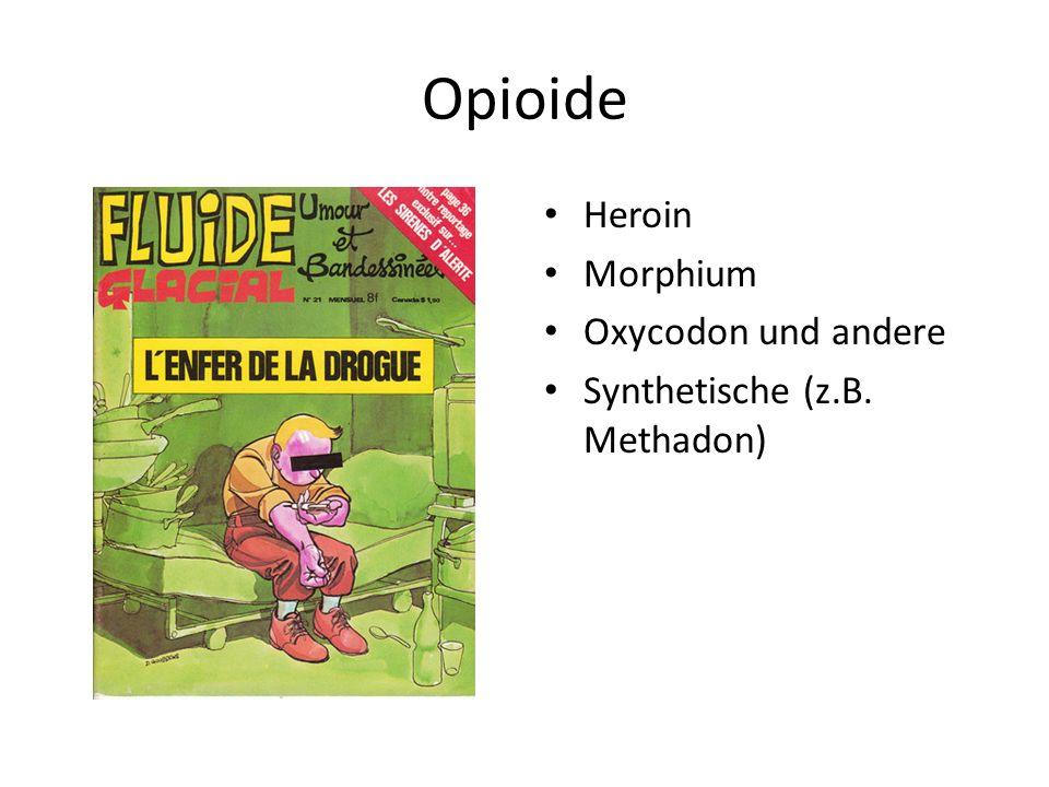 Opioide Heroin Morphium Oxycodon und andere Synthetische (z.B. Methadon)