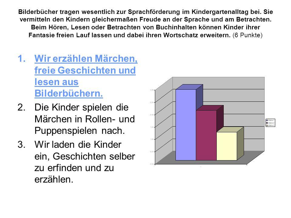 Wir lassen uns vom folgenden Grundsatz leiten: In Alltagssituationen, ob beim Essen, im Waschraum, beim An- und Ausziehen usw., sprechen wir mit den Kindern deutsch.