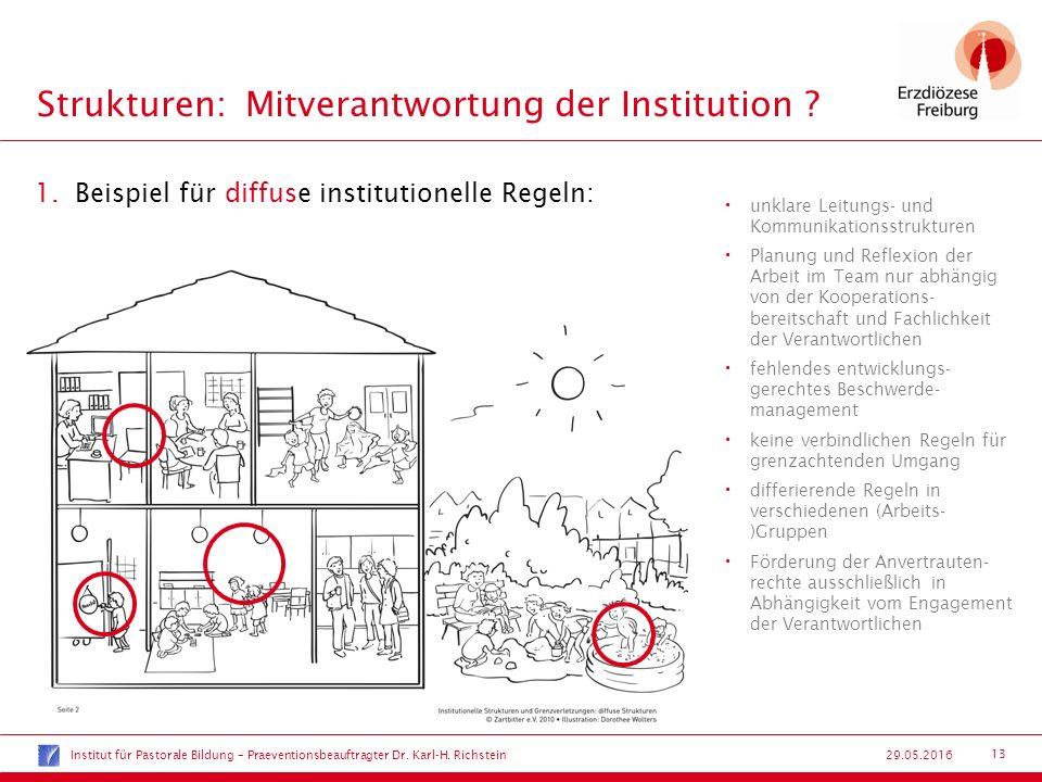 13 29.05.2016 Strukturen:Mitverantwortung der Institution .