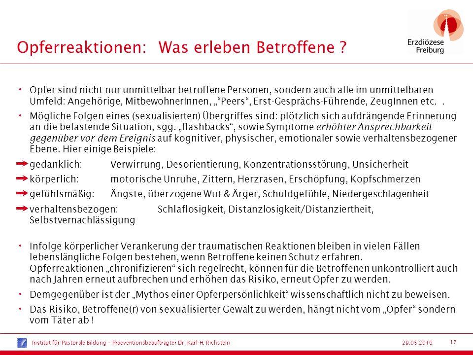 17 29.05.2016 Opferreaktionen:Was erleben Betroffene .