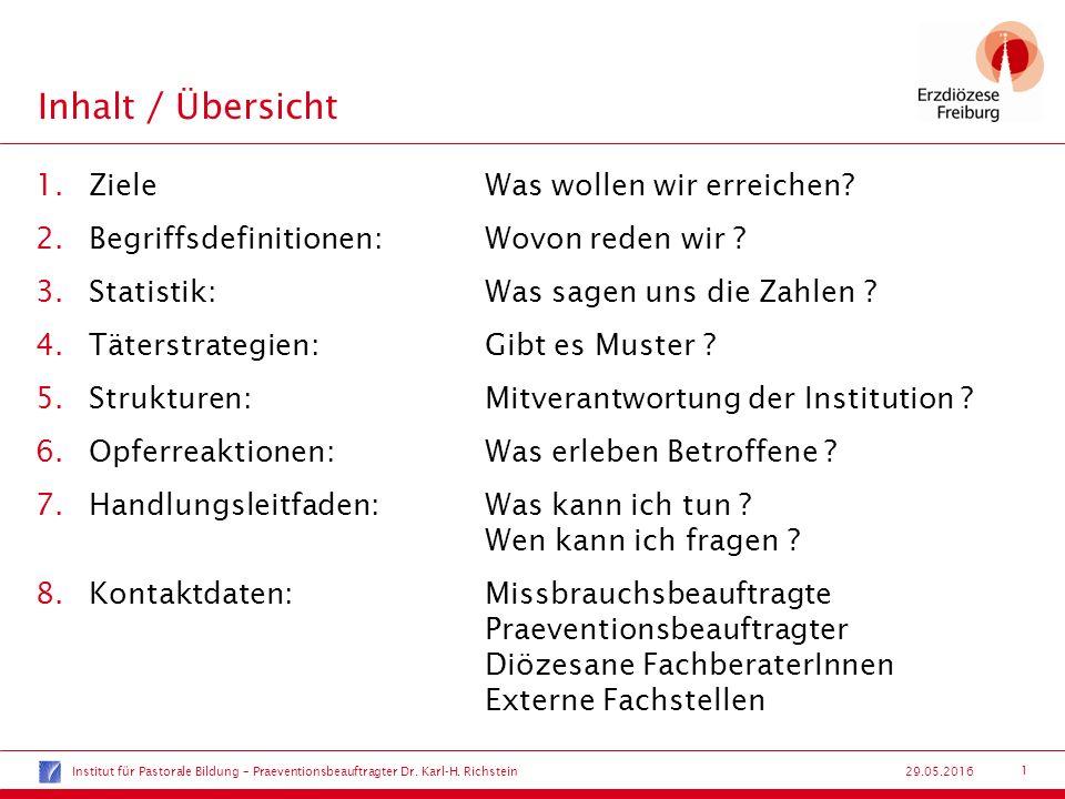 12 29.05.2016 Strukturen:Mitverantwortung der Institution .