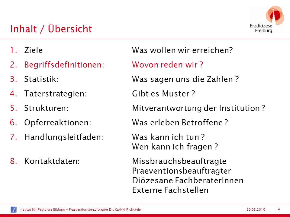 15 29.05.2016 Strukturen:Mitverantwortung der Institution .