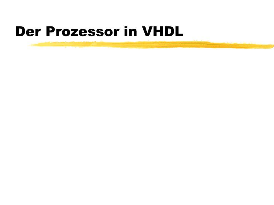 Der Prozessor in VHDL
