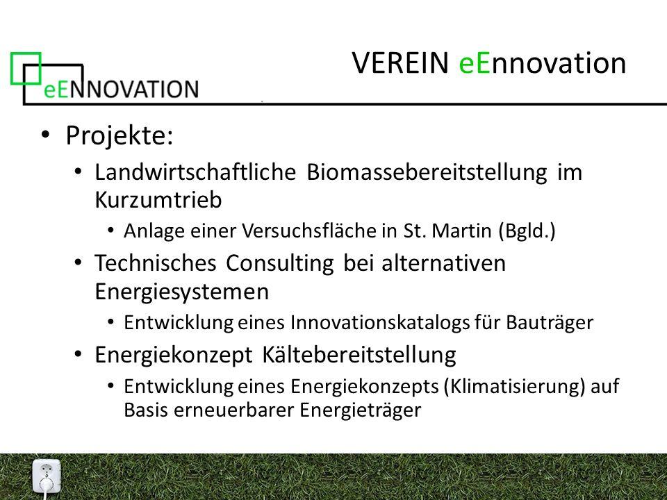 VEREIN eEnnovation Projekte: Landwirtschaftliche Biomassebereitstellung im Kurzumtrieb Anlage einer Versuchsfläche in St.