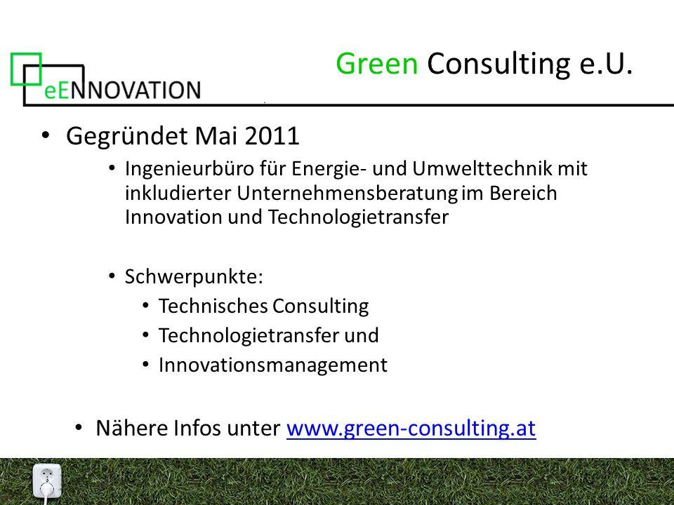 Innovationen im Bereich der Erneuerbaren Energietechnik Gekoppelte Energiebereitstellung Großtechnische Anlagen (z.B.