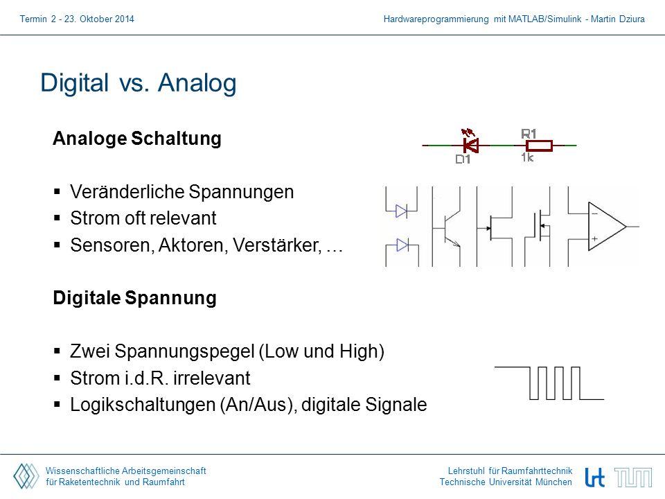 Wissenschaftliche Arbeitsgemeinschaft für Raketentechnik und Raumfahrt Lehrstuhl für Raumfahrttechnik Technische Universität München Digital vs. Analo