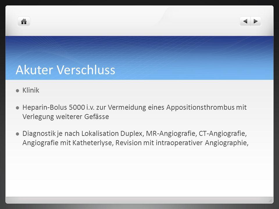 Akuter Verschluss Klinik Heparin-Bolus 5000 i.v.