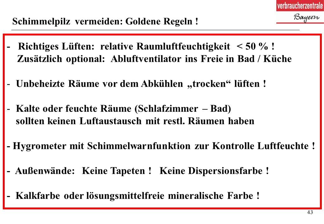 43 Schimmelpilz vermeiden: Goldene Regeln .