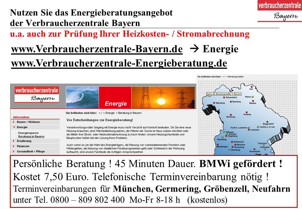 46 Nutzen Sie das Energieberatungsangebot der Verbraucherzentrale Bayern u.a.