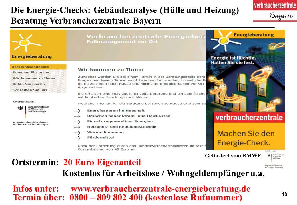 48 Ortstermin: 20 Euro Eigenanteil Kostenlos für Arbeitslose / Wohngeldempfänger u.a.