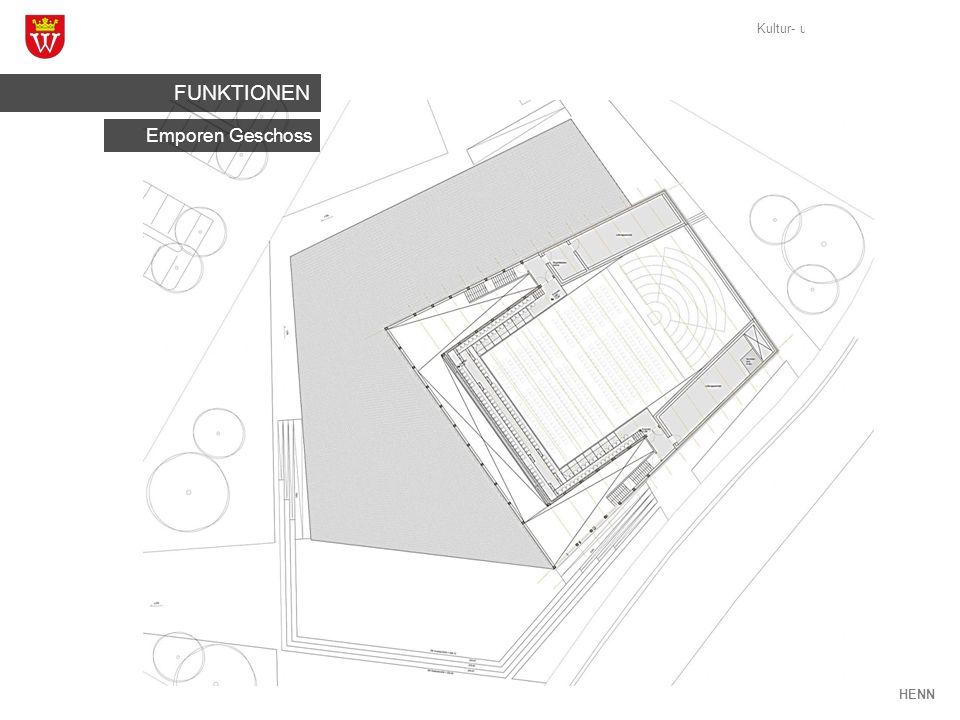Kultur- und Veranstaltungshaus Weikersheim HENN Emporen Geschoss FUNKTIONEN