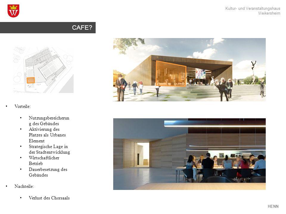 Kultur- und Veranstaltungshaus Weikersheim HENN CAFE.