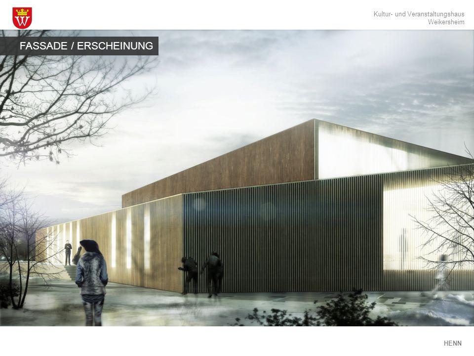 Kultur- und Veranstaltungshaus Weikersheim HENN Besetzung/Raumprogramm FUNKTIONEN 496 190 75