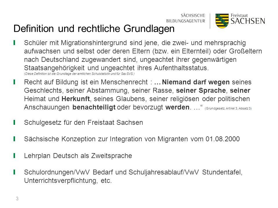 Definition und rechtliche Grundlagen ❙ Schüler mit Migrationshintergrund sind jene, die zwei- und mehrsprachig aufwachsen und selbst oder deren Eltern
