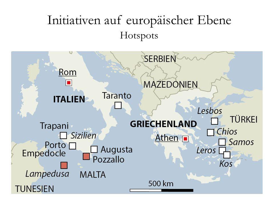 Initiativen auf europäischer Ebene Hotspots