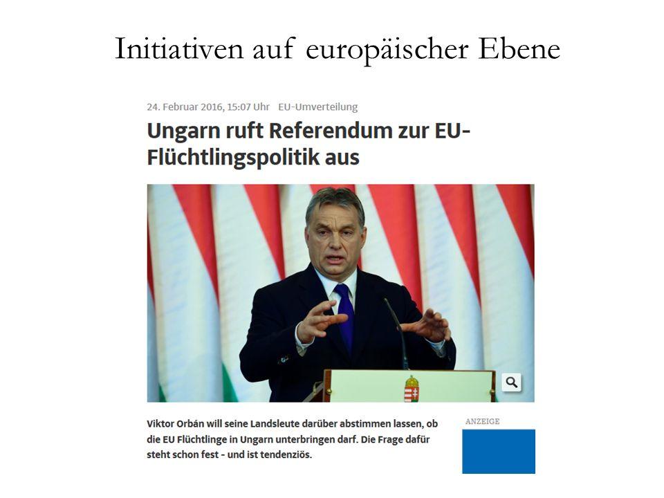 Initiativen auf europäischer Ebene