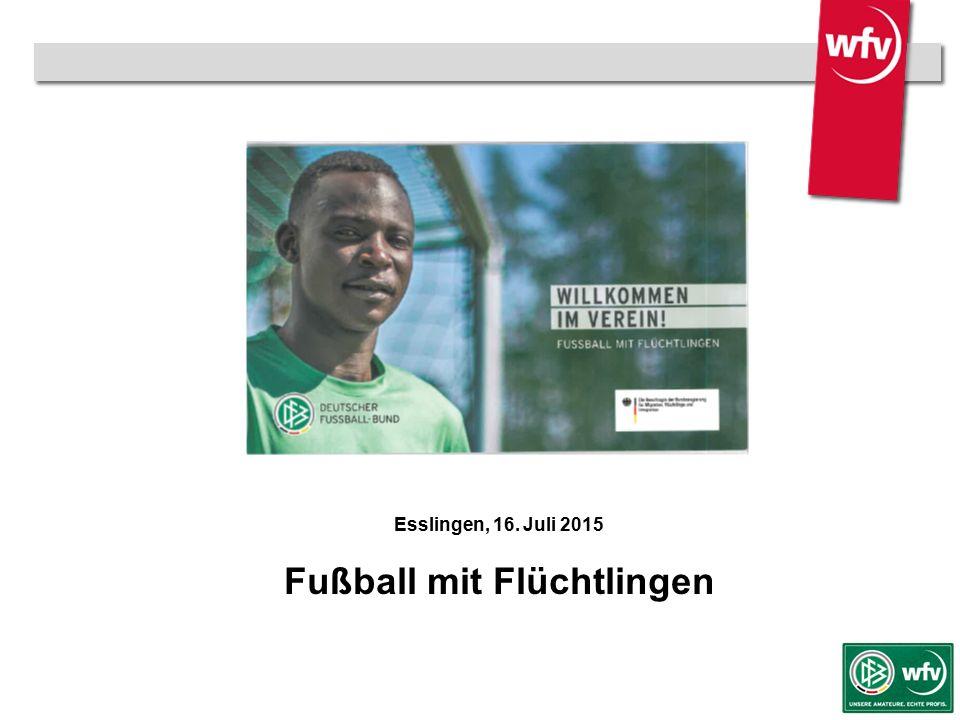 wfv-Jugendleiter Kurzschulung Esslingen, 16. Juli 2015 Fußball mit Flüchtlingen