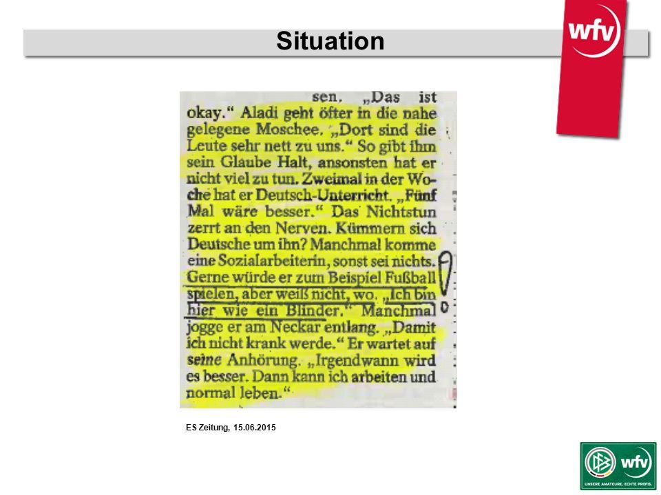 """wfv-Jugendleiter Kurzschulung Situation  Unsicherheiten & Berührungsängste  sprachliche Barrieren  kulturelle Unterschiede  rechtliche """"Grauzonen Flüchtlinge, d.h."""