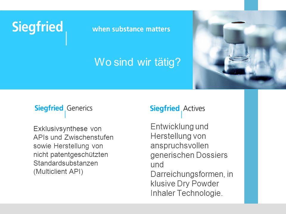 Entwicklung und Herstellung von anspruchsvollen generischen Dossiers und Darreichungsformen, in klusive Dry Powder Inhaler Technologie. Exklusivsynthe
