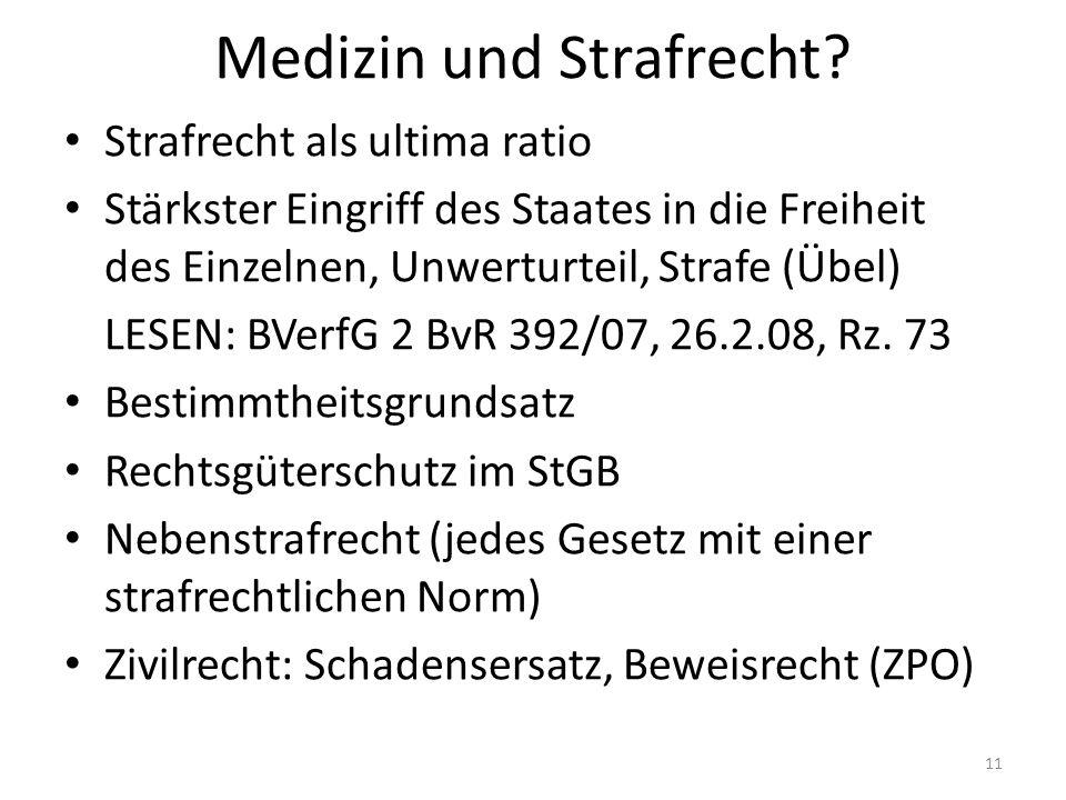 Medizin und Strafrecht.
