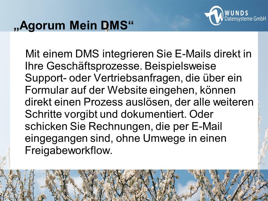 Mit einem DMS integrieren Sie E-Mails direkt in Ihre Geschäftsprozesse. Beispielsweise Support- oder Vertriebsanfragen, die über ein Formular auf der