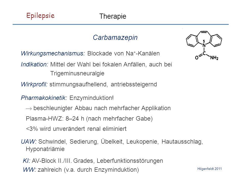 Epilepsie Hilgenfeldt 2011 Pharmakokinetik: Enzyminduktion.