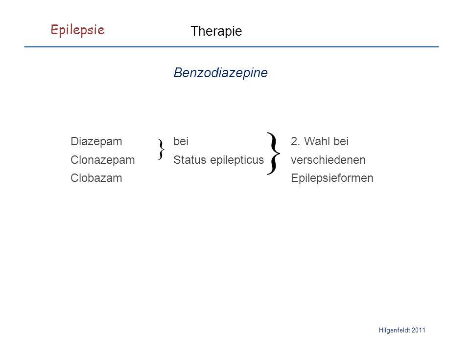 Epilepsie Hilgenfeldt 2011 Therapie Benzodiazepine } Diazepambei2.