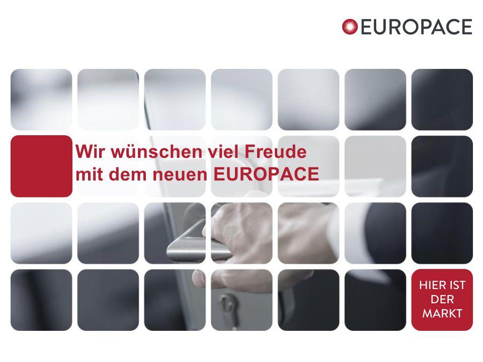 Wir wünschen viel Freude mit dem neuen EUROPACE