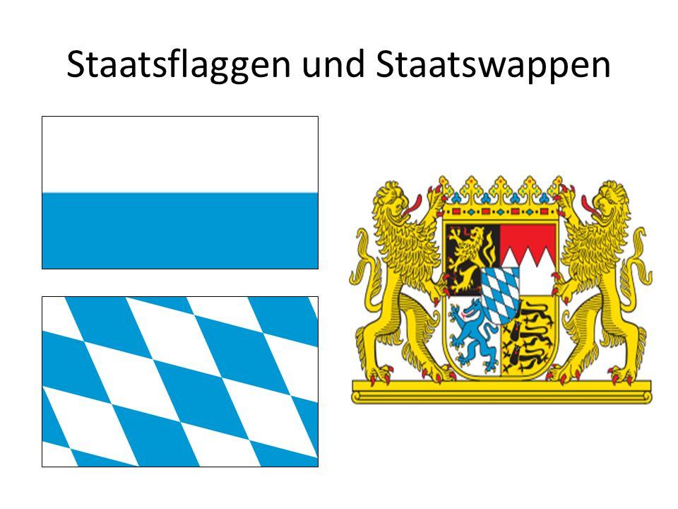 Staatsflaggen und Staatswappen