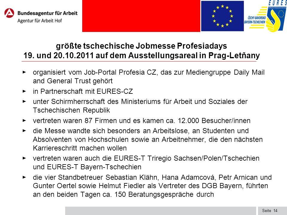 Seite14 größte tschechische Jobmesse Profesiadays 19.