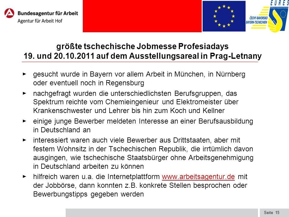 Seite15 größte tschechische Jobmesse Profesiadays 19.