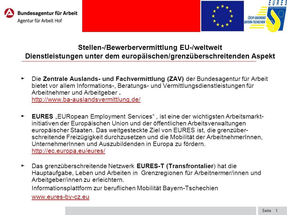 Seite Grenzüberschreitende EURES-Partnerschaften 2 1.Oberrhein (FR-DE-CH)Oberrhein (FR-DE-CH) 2.EuresChannel (BE-FR-UK)EuresChannel (BE-FR-UK) 3.Scheldemond (BE-NL)Scheldemond (BE-NL) 4.EURES-TriRegio (CZ-DE-PL)EURES-TriRegio (CZ-DE-PL) 5.EURES Maas-Rhin (BE-DE-NL)EURES Maas-Rhin (BE-DE-NL) 6.P.E.D.