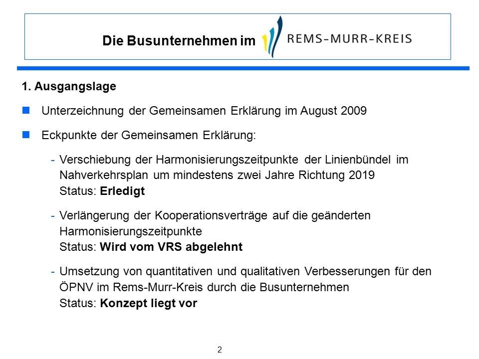 2 1. Ausgangslage Unterzeichnung der Gemeinsamen Erklärung im August 2009 Eckpunkte der Gemeinsamen Erklärung: -Verschiebung der Harmonisierungszeitpu