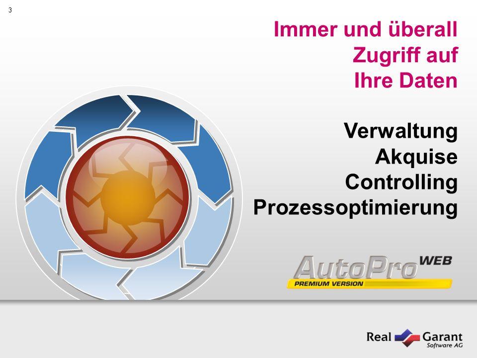 3 Immer und überall Zugriff auf Ihre Daten Verwaltung Akquise Controlling Prozessoptimierung