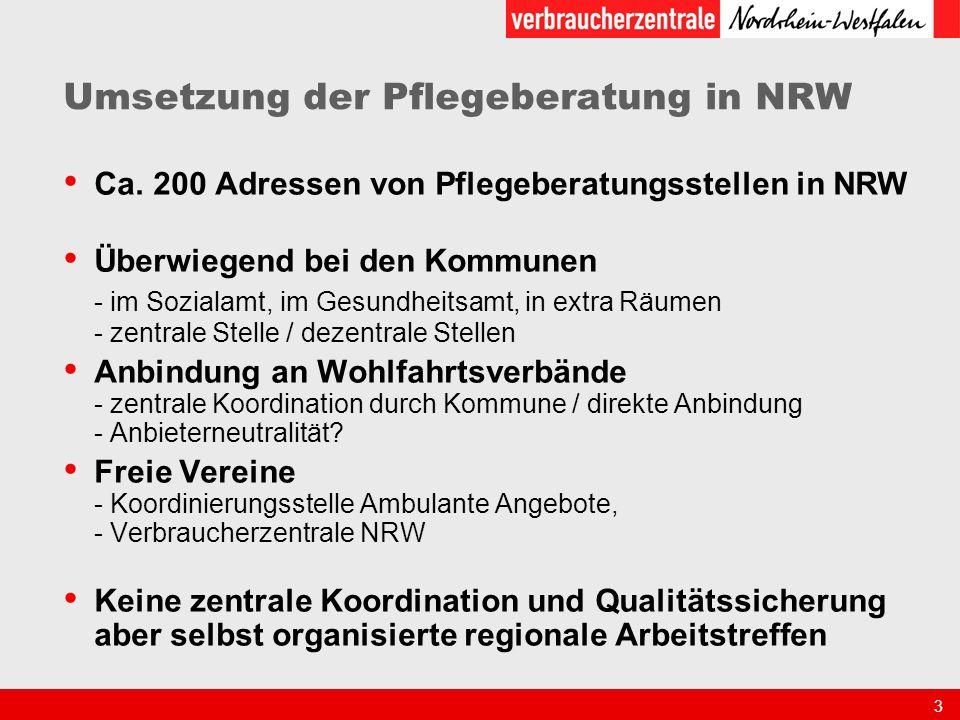 3 Umsetzung der Pflegeberatung in NRW Ca.