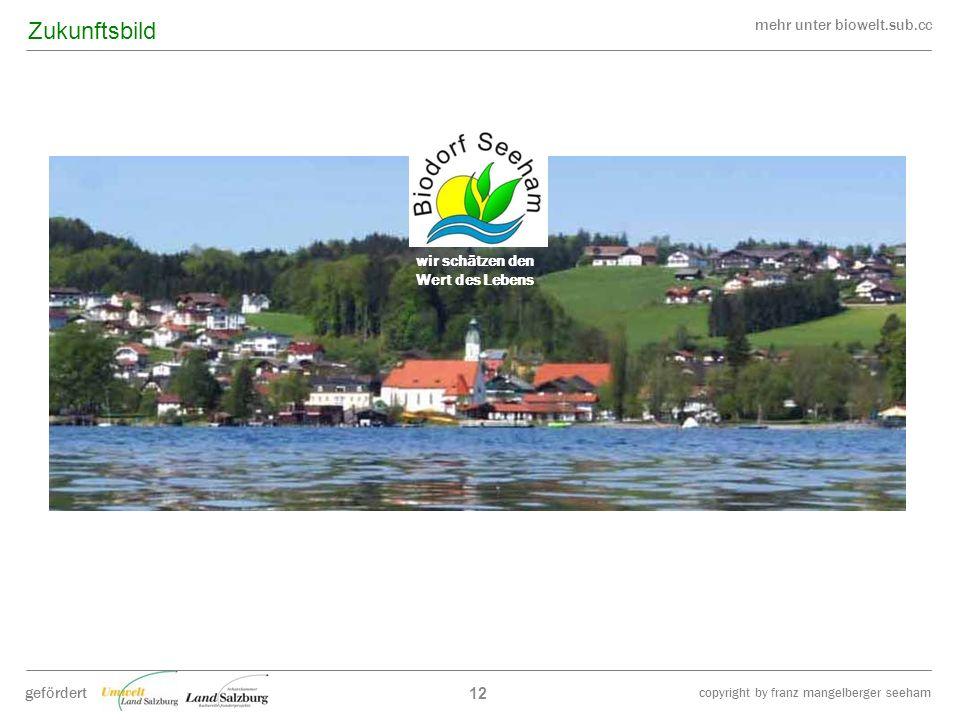 mehr unter biowelt.sub.cc gefördert copyright by franz mangelberger seeham wir schätzen den Wert des Lebens 12 Zukunftsbild