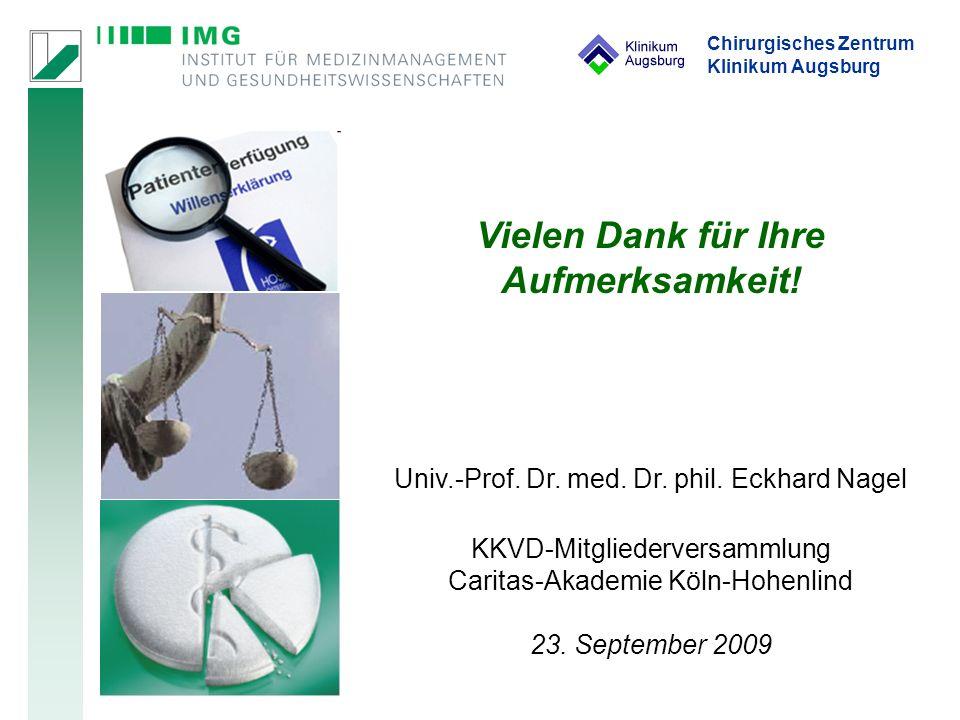 Chirurgisches Zentrum Klinikum Augsburg Vielen Dank für Ihre Aufmerksamkeit.