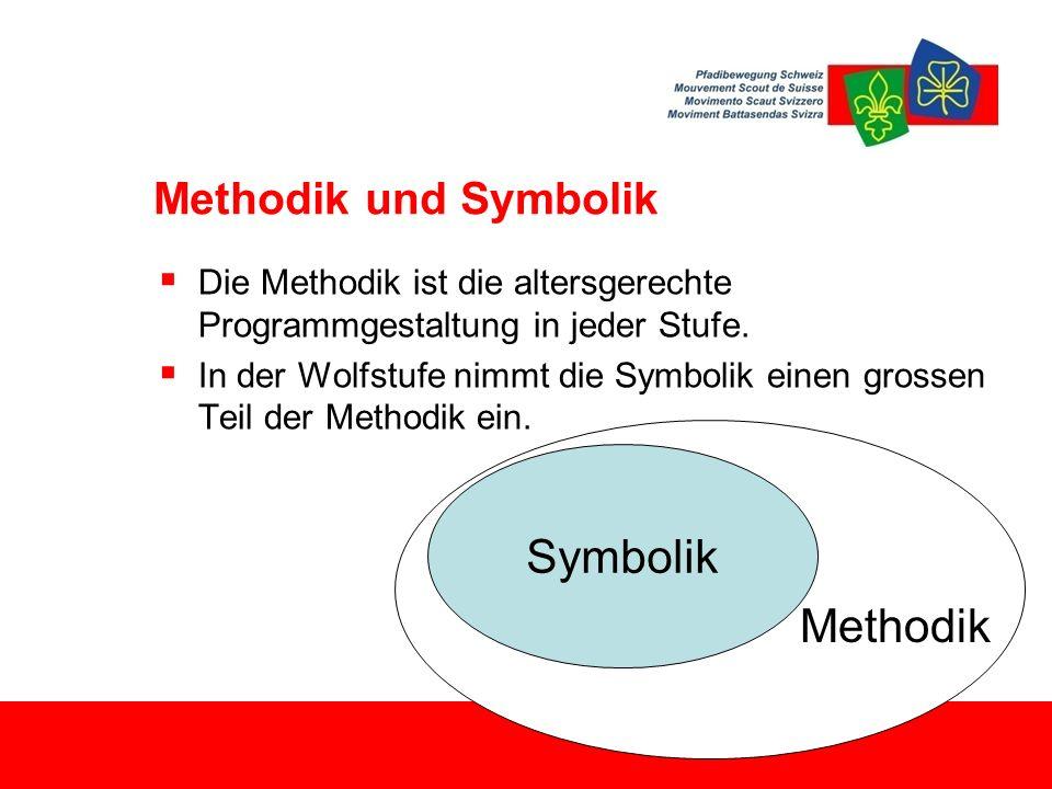  Die Methodik ist die altersgerechte Programmgestaltung in jeder Stufe.  In der Wolfstufe nimmt die Symbolik einen grossen Teil der Methodik ein. Me
