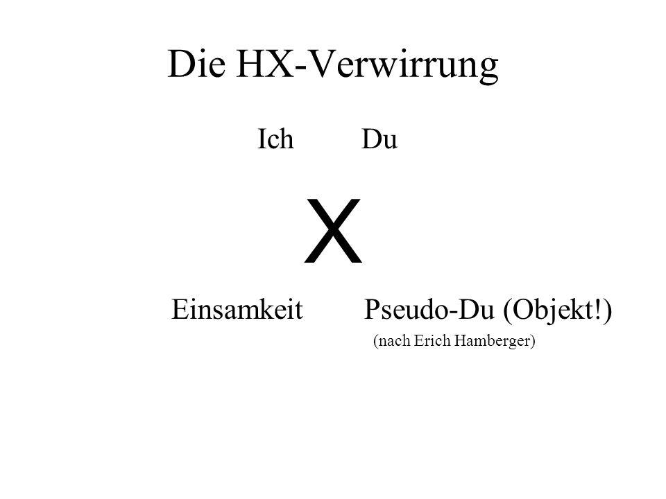 Die HX-Verwirrung Ich Du X Einsamkeit Pseudo-Du (Objekt!) (nach Erich Hamberger)