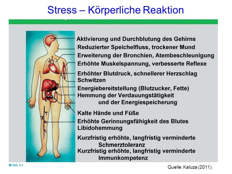 Quelle: Kaluza (2011). Stress – Körperliche Reaktion
