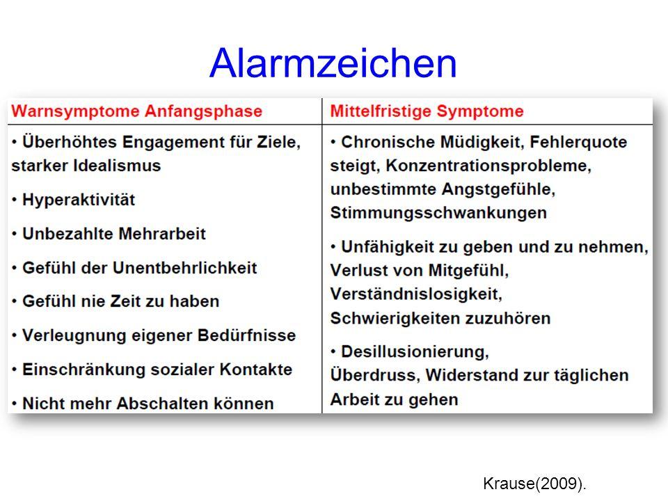 Alarmzeichen Krause(2009).