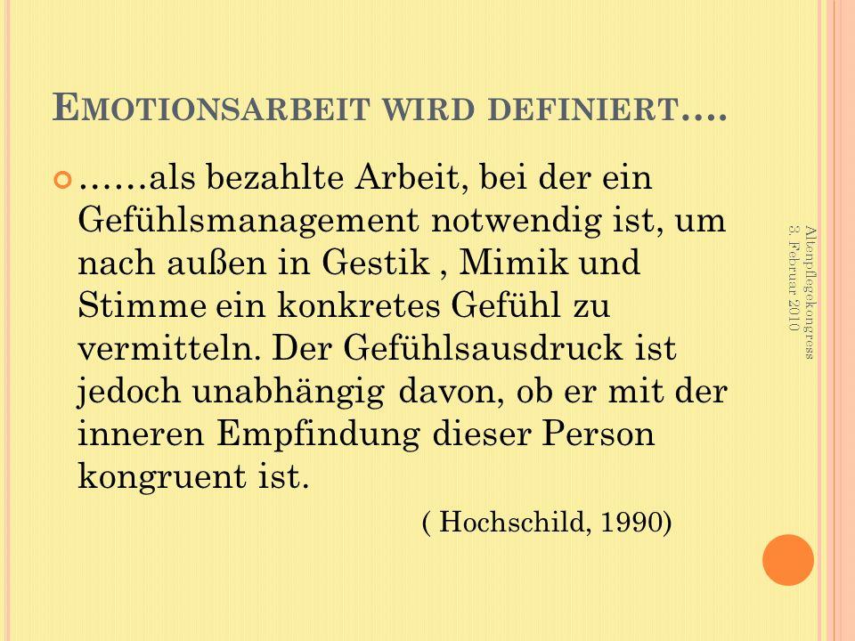 E MOTIONSARBEIT WIRD DEFINIERT ….