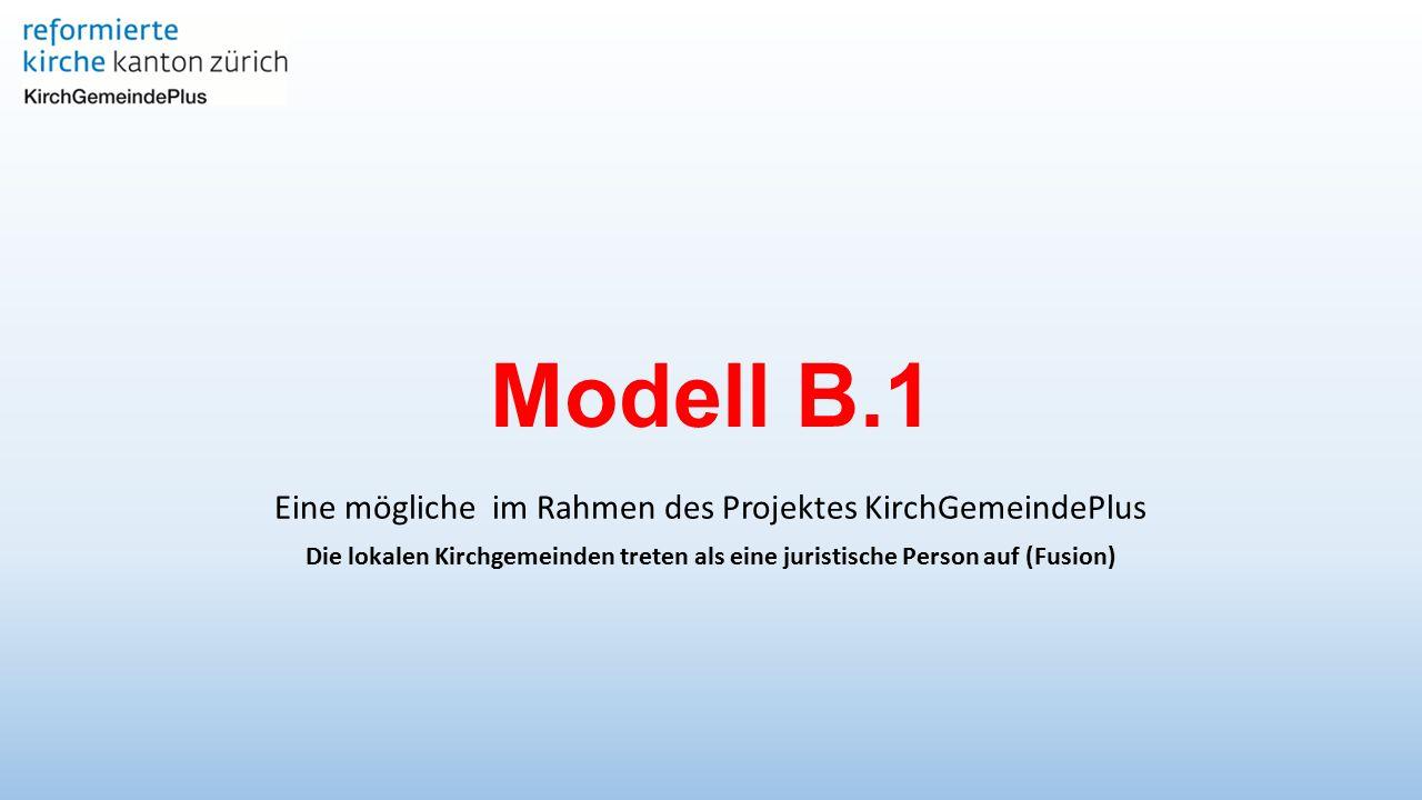 Modell B.1 Eine mögliche im Rahmen des Projektes KirchGemeindePlus Die lokalen Kirchgemeinden treten als eine juristische Person auf (Fusion)