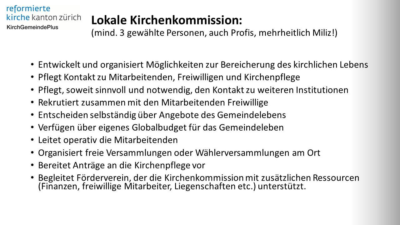 Lokale Kirchenkommission: (mind.