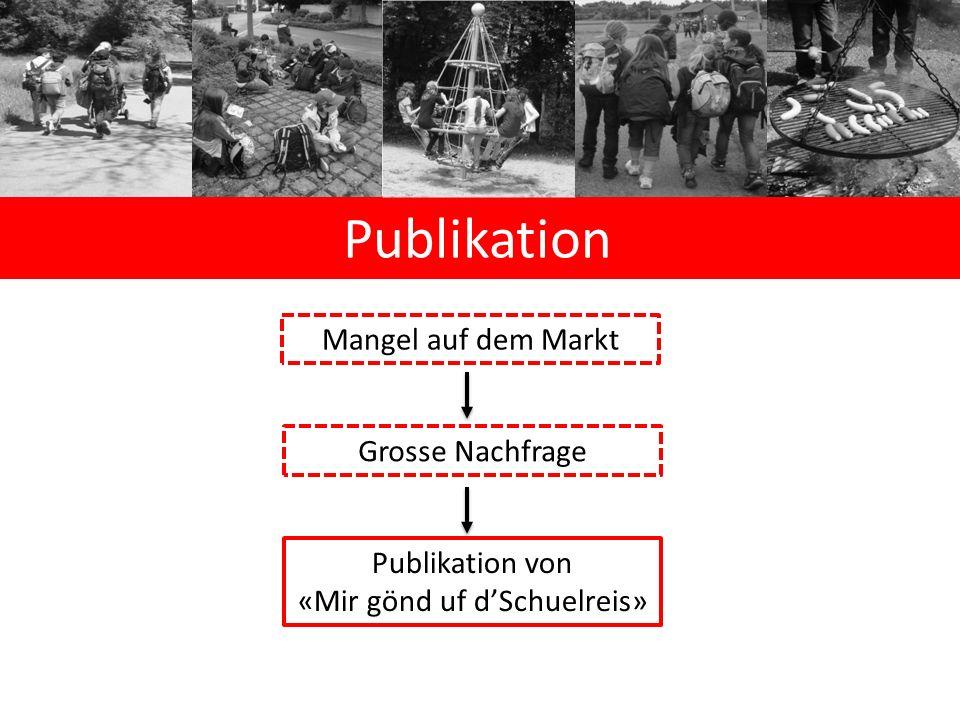 Publikation Mangel auf dem Markt Grosse Nachfrage Publikation von «Mir gönd uf d'Schuelreis»