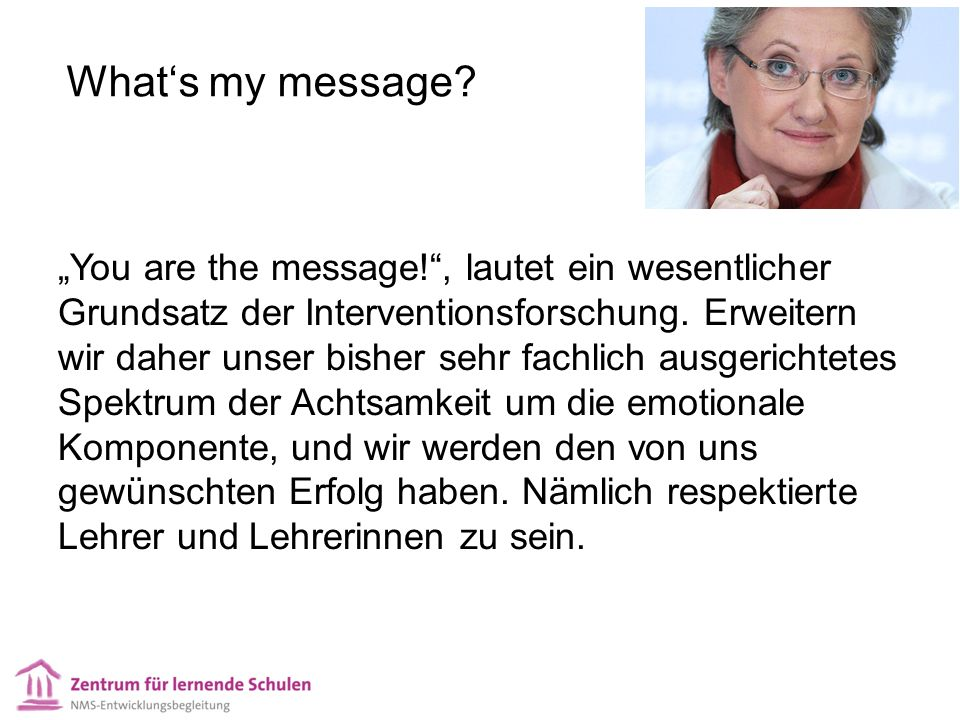 What's my message.