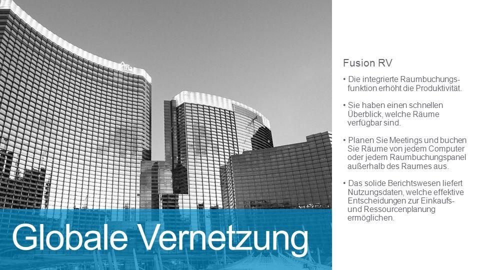 Fusion RV Die integrierte Raumbuchungs- funktion erhöht die Produktivität.