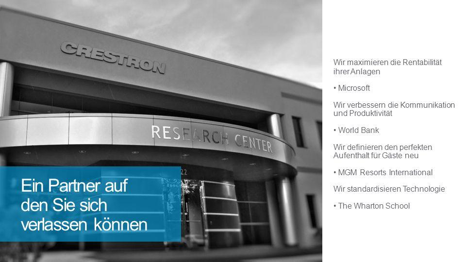 Wir maximieren die Rentabilität ihrer Anlagen Microsoft Wir verbessern die Kommunikation und Produktivität World Bank Wir definieren den perfekten Aufenthalt für Gäste neu MGM Resorts International Wir standardisieren Technologie The Wharton School Ein Partner auf den Sie sich verlassen können