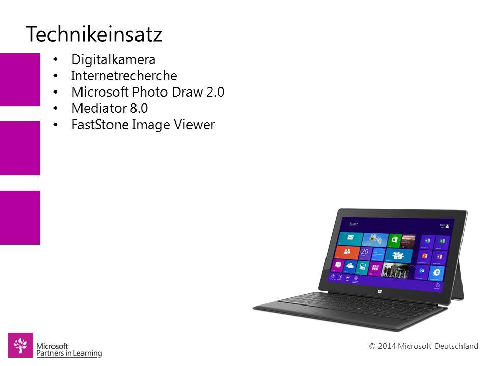 © 2014 Microsoft Deutschland Impressionen / Ergebnisse Die Ergebnisse der eigenen Kreativität können sich wirklich sehen lassen und machen stolz und selbstbewusst.